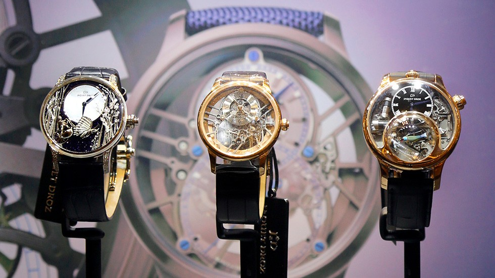 Jaquet Droz and Johnson Watch Company, Special cocktail in New Delhi, Pieces Showcase
