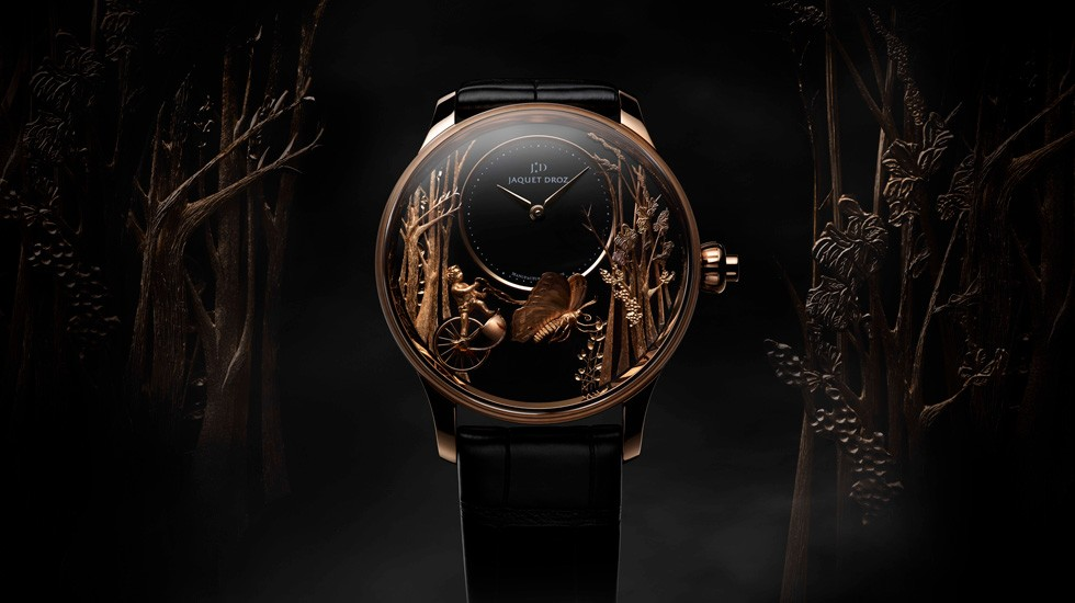 Jaquet Droz, J032533270, Loving Butterfly Automaton, Ambiance front
