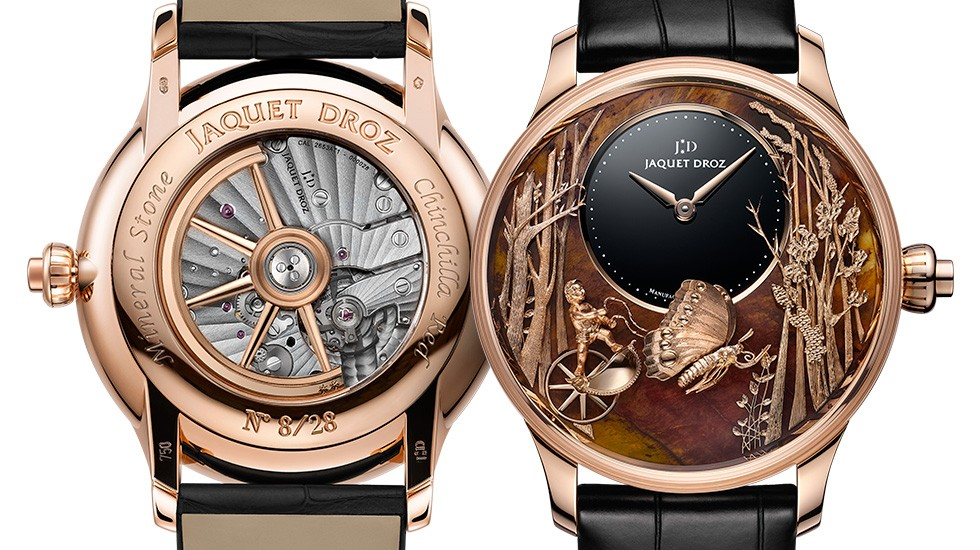 Jaquet Droz, Loving Butterfly Automaton, J032533275, Front Back