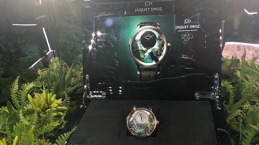 JAQUET DROZ AT DFS MASTERS OF TIME EXHIBITION 2018, Tropical Bird Repeater