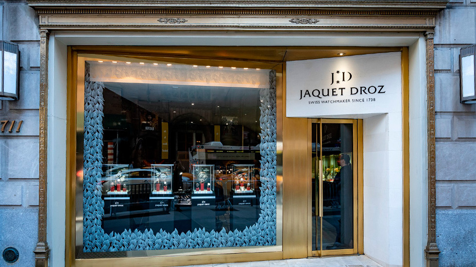 Jaquet Droz, 2019 Novelties Presentation, New York, Boutique Front View