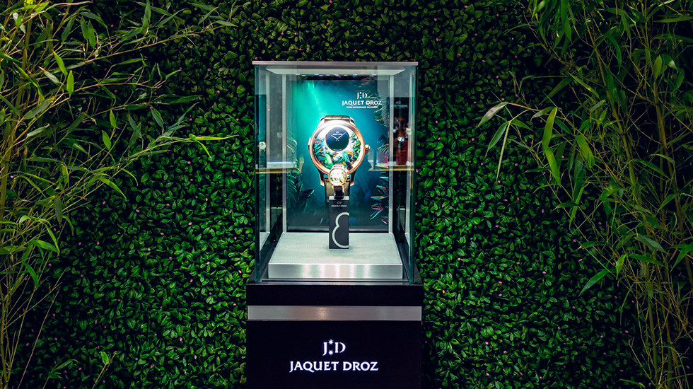 Jaquet Droz, 2019 Novelties Presentation, New York, Tropical Bird Repeater, Showcase