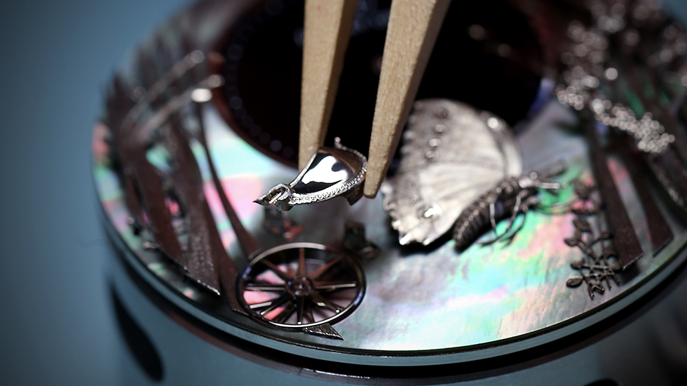 Jaquet Droz, J032534270, Loving Butterfly Automaton, Workshop