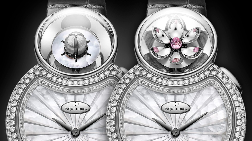 Jaquet Droz, Lady 8 Flower, J032004270, Close-up, Open Closed