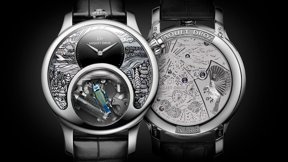 Jaquet Droz, The Charming Bird, J031534200, Front Back