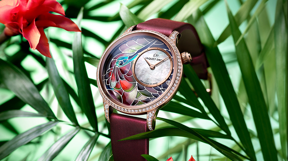 Jaquet Droz, 2109 Novelties, Petite Heure Minute Smalta Clara Humming bird