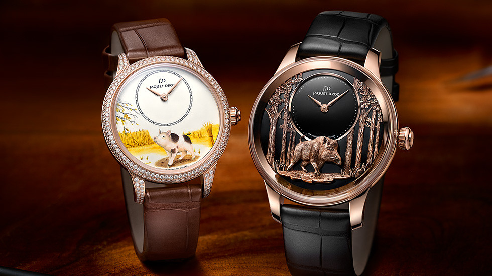 Jaquet Droz, Petite Heure Minute Pig, Duo Ambiance, J005003225 J005023290Chinese New Year,