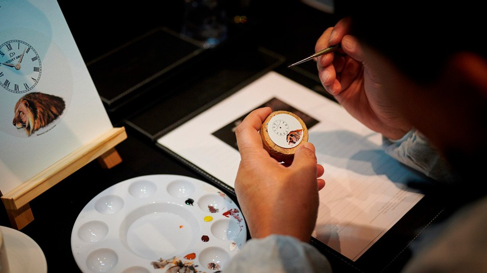 Jaquet Droz, Painting Workshop In Shanghai, Guest Painting close-Up
