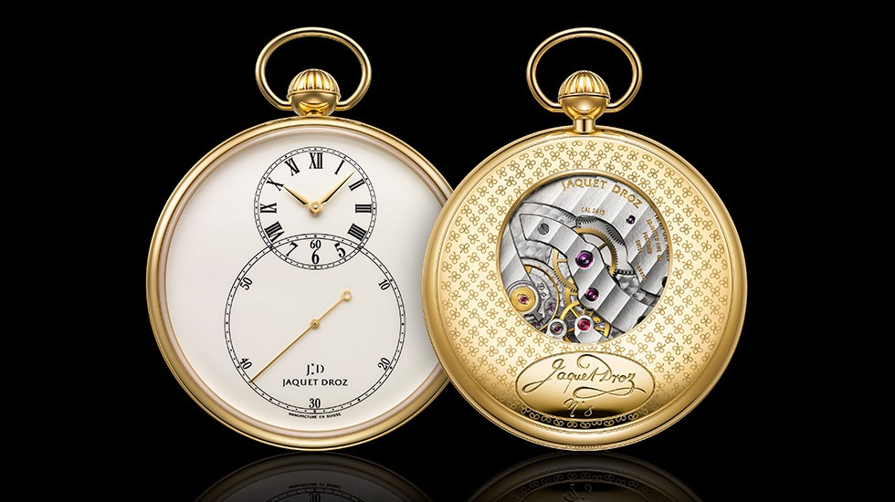 Jaquet Droz, Grande Seconde Pocket Watch, Front Back, J080031000