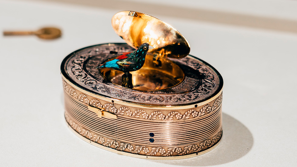 Jaquet Droz, Timepiece Museum Exhibition, Antique Singing Bird Automaton