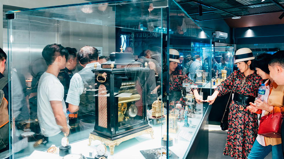 Jaquet Droz, Timepiece Museum Exhibition, Guests Discovering Antique Pieces