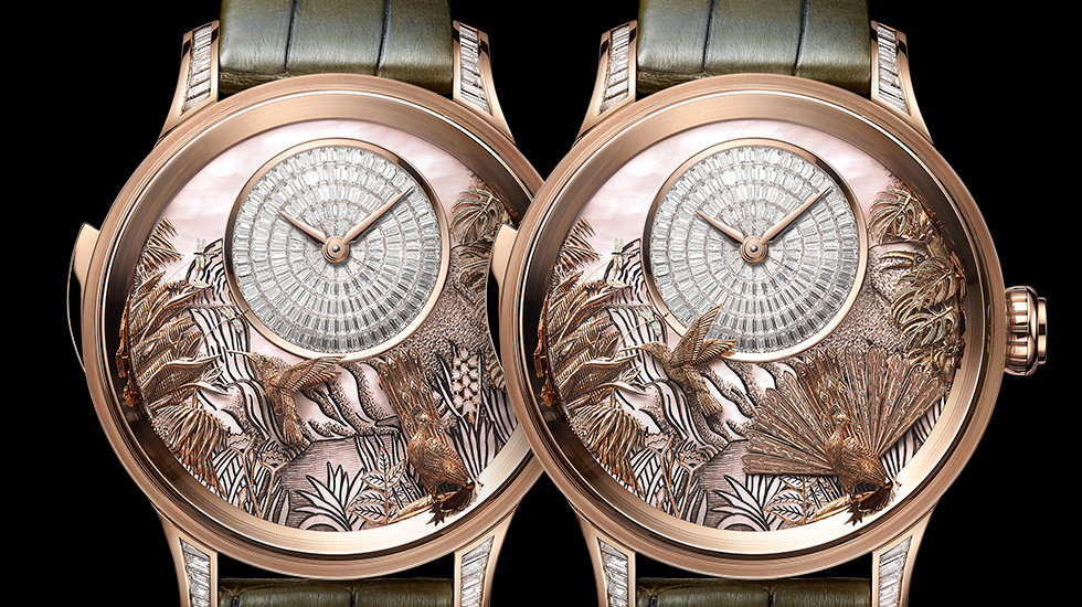 Jaquet Droz, Tropical Bird Repeater, J033033206, Animation Close-Up