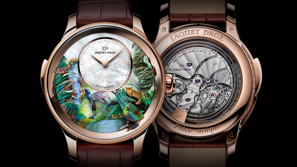 Jaquet Droz, Tropical Bird Repeater Beijing, J033033204, Front Back