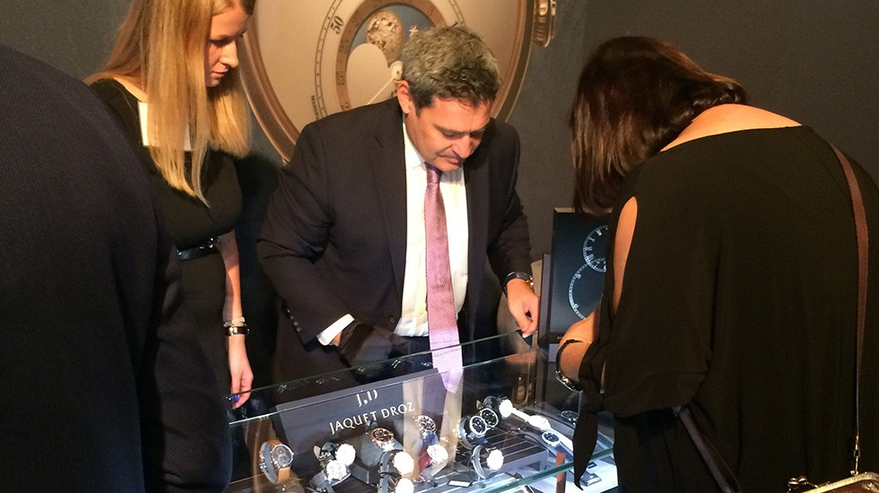 JAQUET DROZ AT WATCHTIME SHOW IN NEW YORK
