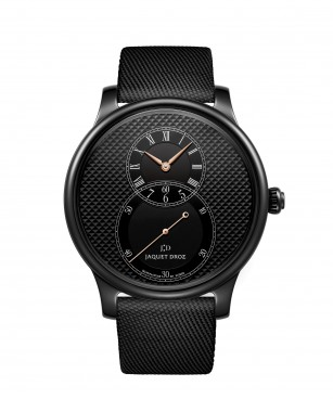 J003035540, Grande Seconde Black Ceramic Clous De Paris, front