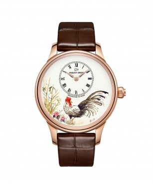 Jaquet Droz, J005013216, Petite Heure Minute Rooster, Front
