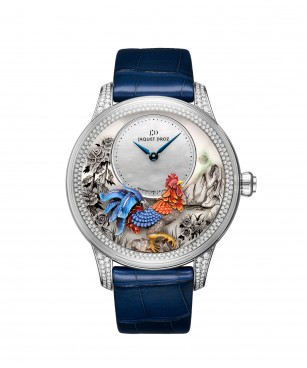 Jaquet Droz, J005024282, Petite Heure Minute Relief Rooster, Front