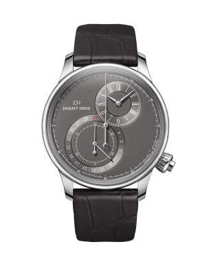 Jaquet Droz, Grande Seconde Off-centered Chronograph Gray, J007830242, Front