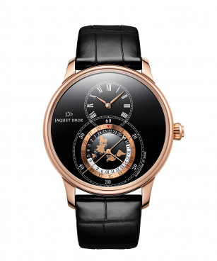 Jaquet Droz, Grande Seconde Dual Time Black Enamel, J016033202, Front
