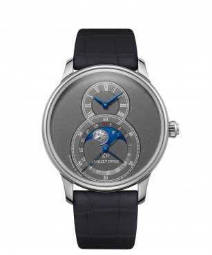 Jaquet Droz, Grande Seconde Moon Anthracite, J007530242, Front