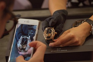 CELEBRATING JAQUET DROZ'S LATEST 2017 NOVELTIES PRESENTATION TO PRESS & CLIENTS, AT THE PARISIAN BOUTIQUE OF 8 RUE DE LA PAIX