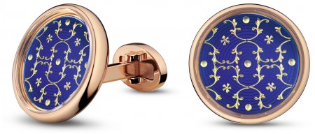 PAIR OF PAILLONS CUFFLINKS BY JAQUET DROZ