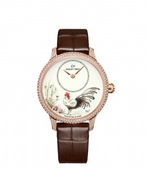 Jaquet Droz, J005003222, Petite Heure Minute Rooster, Front
