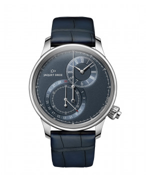Jaquet Droz, Grande Seconde Off-centered Chronograph Blue, J007830241, Front