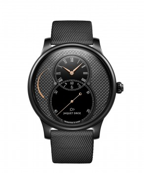 Jaquet Droz, Grande Seconde Power Reserve Ceramic Clous De Paris, J027035543 ,Front