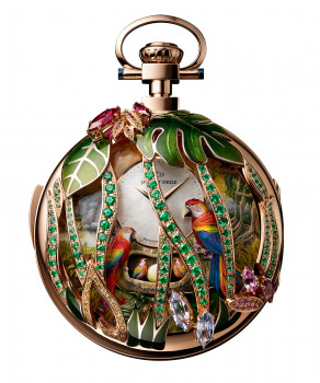 Parrot Repeater Pocket Watch, J080533000, Front