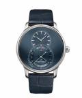 Jaquet Droz, Grande Seconde Quantième Satin-brushed Blue, J007030249, Front