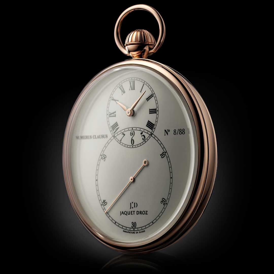 Pocket Watch Ivory Enamel